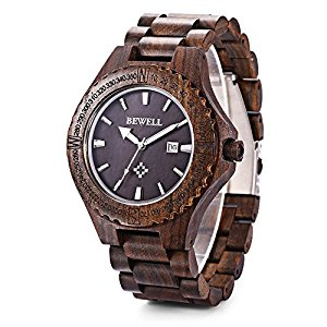 bewell GBlife W023A Men Wooden Bangle Quartz