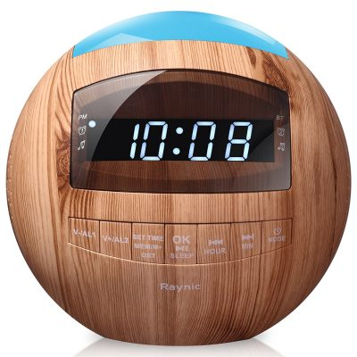 Raynic 8-in-1 wooden alarm clock