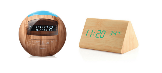 best wooden alarm clock head 2