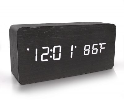 Hereu0027s Another Multi Functional Wooden Digital Alarm Clock That Could Be A  Great Add On To Your Living Room Or Bedroom. The Gadget Is Capable Of  Displaying ...