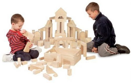 Melissa & Doug Standard Unit Solid-Wood Building Blocks