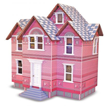 melissa & Doug classic wooden doll house