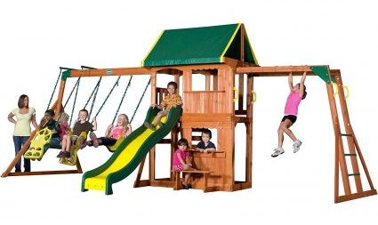 backyard discovery prairie wooden swing set