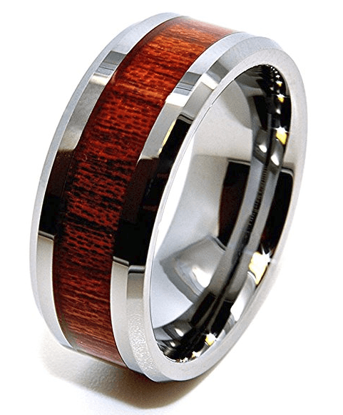 bluechip wood grain tungsten ring review