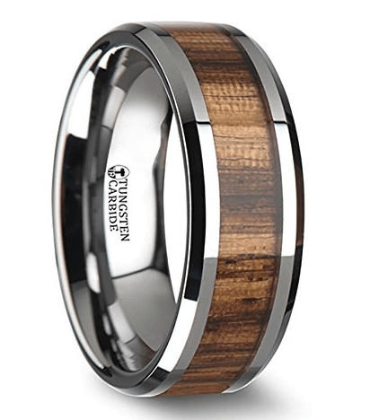 Palamaletto Wooden Tungsten Ring