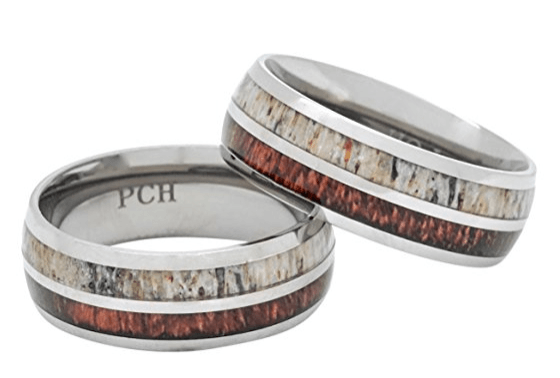 pch deer antler koa wood rings titanium ring review 2