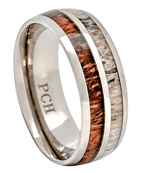 pch deer antler koa wood rings titanium ring review