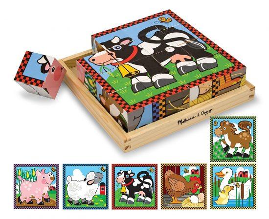 wooden farm cube puzzle 1