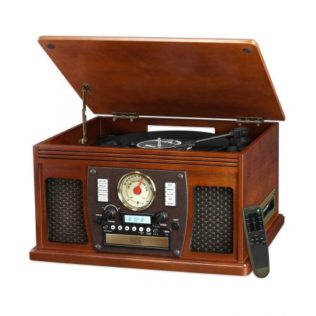 Victoria Nostalgic Aviator Wood Record Player