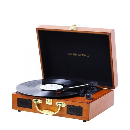 musitrend Wooden record player turntable